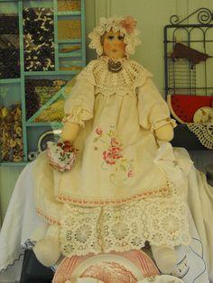 My Mom's homemade vintage dolls. Seen on Etsy