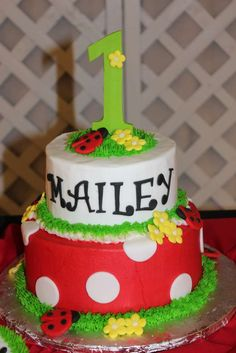 Mailey's 1st Birthday Ladybug Party | CatchMyParty.com