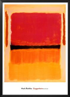 Ohne Titel (Violett, Schwarz, Orange, Gelb auf Weiß und Rot), ca. 1949 Kunstdrucke von Mark Rothko - bei AllPosters.ch