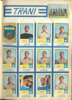 US Trani of Italy team stickers in Italy Team, Soccer Guys, Barbie, Album, Football, Baseball Cards, Sports, 1960s, Stickers