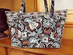 Vera Bradley Java Blue Miller Large Travel Tote or Everything Bag  3c28ac8b963a1