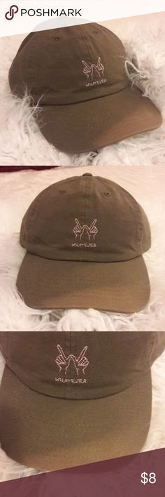 """Whatever"" baseball hat Baseball hat. Has discoloration on the flap Empyre Accessories Hats"