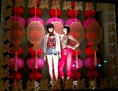 chinese new year window display