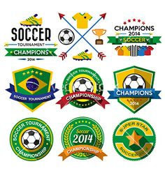 Soccer football badge and labels vector. World cup by kanate on VectorStock®