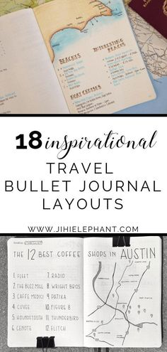 18 Inspiring Travel Planning Bullet Journal Layouts Traveling is always easier when you prepare right. This post is full of inspiring travel bullet journal layouts to get you ready for your next trip! Bullet Journal Vacation, Bullet Journal Page, Bullet Journals, On The Beach, Bullet Journal Inspiration, Travel Inspiration, Journal Ideas, Journal Art, Planner Journal