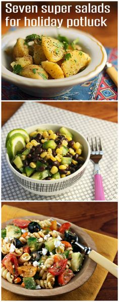 Seven super salads for holiday BBQ and potluck!
