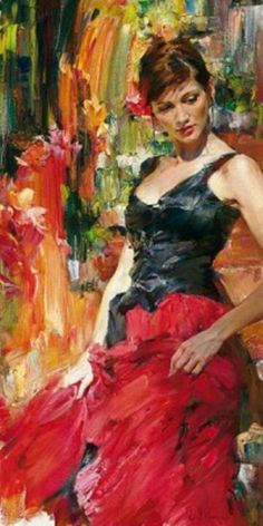 The Garmash's incredible talent is only matched by their love and career stories. Michael and Inessa won several International awards for their portrait work and are considered to be one of the most important figurative artists working on the US market. Female Pictures, Pictures Images, Classical Art, Artist At Work, Cool Art, Art Gallery, Romantic, Fine Art, Portrait