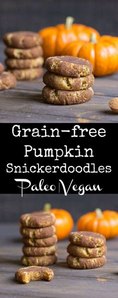 Super easy cookies that are perfect for the fall! Paleo and Vegan too!