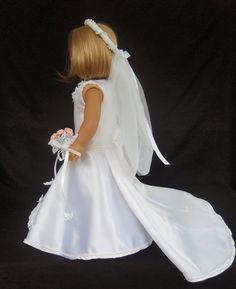 American Girl Doll Clothes Princess Wedding Gown by SewSoNancy, $35.00