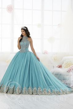 Passionate filled pretty quinceanera dresses Look At This Quince Dresses, 15 Dresses, Elegant Dresses, Beautiful Dresses, Fashion Dresses, Teal Dresses, Tulle Ball Gown, Ball Gowns, Fairy Wedding Dress