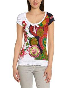 Desigual - Elba Maglietta, manica corta, donna, Bianco (Weiß (Blanco)), L in OFFERTA su www.kellieshop.com Scarpe, borse, accessori, intimo, gioielli e molto altro.. scopri migliaia di articoli firmati con prezzi da 15,00 a 299,00 euro! #kellieshop Seguici su Facebook > https://www.facebook.com/pages/Kellie-Shop/332713936876989
