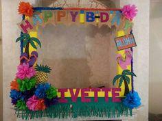 Marco de cumpleaños hawaiano