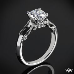 This Solitaire Engagement Ring is from the Verragio Insignia Collection. #Whiteflash #Verragio