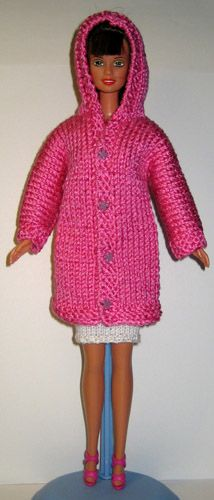 Barbie Knitting Patterns, Knitted Doll Patterns, Knitting Dolls Clothes, Barbie Clothes Patterns, Crochet Barbie Clothes, Girl Doll Clothes, Clothing Patterns, Knitted Dolls Free, Barbie Dress