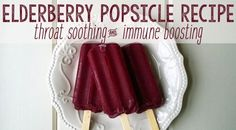 Soothe your sore throat and boos your immune system with this elderberry popsicle recipe. Learn howhttp://www.extremenaturalhealthnews.com/how-to-make-elderberry-popsicle-to-soothe-a-sore-throat/