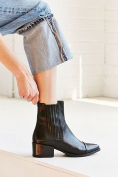 Shop Vagabond Shoemakers Marja Chelsea Boot at Urban Outfitters today. We carry all the latest styles, colors and brands for you to choose from right here. Leather Chelsea Boots, Leather Cap, Leather Shoes, Mid Calf Boots, Ankle Boots, Women's Boots, Buy Boots, Heel Boots, Vagabond Boots
