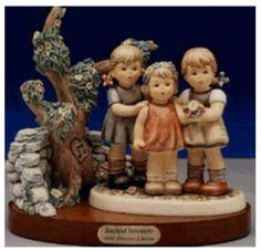 Hummel Bashful Serenade with Scape Hummel Figurine 2133