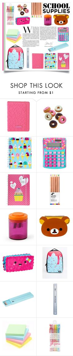 """""""School supplies"""" by sarah-09013112 ❤ liked on Polyvore featuring interior, interiors, interior design, home, home decor, interior decorating, Marc by Marc Jacobs, Yoobi, Urban Junk and Polite"""