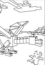A Free Minecraft Coloring Picture Of Ender Dragon For Kids To Print Out And