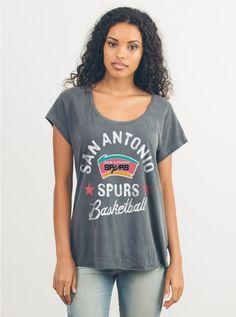 NBA SAN ANTONIO SPURS TEE - Short Sleeve - Tops - Womens