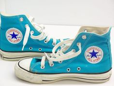 f8a58c674a5 Clean 1980 s Converse Chuck Taylor All-Star Turquoise High Tops Men s Size  4-1