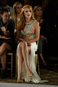 Actress Bella Thorne attends the Sherri Hill Fashion Show during Mercedes-Benz Fashion Week Spring 2015 on September 2014 in New York City. (Photo by Ben Gabbe/Getty Images) Bella Throne, Pattern Floral, Mini Robes, Mode Chic, Kardashian Style, Beautiful Celebrities, Look Fashion, Ny Fashion, Fashion Trends