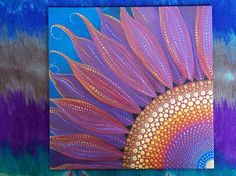 Wildflower Mandala 8x8 Canvas Board Dot Painting Sacred