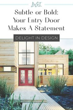 Your entry door speaks volumes about the lifestyle and decor that is inside the home. What does your front door say about you and your style? Outdoor Spaces, Outdoor Living, Outdoor Decor, Two Panel Doors, Exterior Doors With Glass, Black Barn, Front Door Design, Contemporary Interior Design, Entry Doors