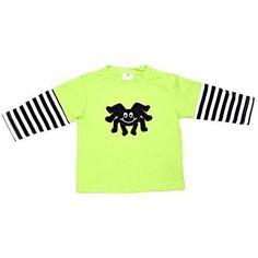 Unique Baby Unisex Halloween Spider Layered Shirt