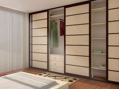 Wooden sliding door for closet and walk-in wardrobe PARETE ARMADIO A MURO Cinius