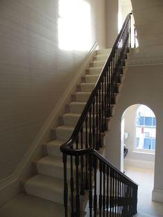 Stone staircase in Belgravia. London. Portland Limestone. By the stonemasonrycompany.co.uk