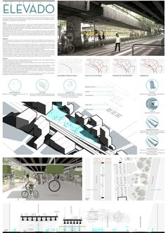 Resultados do 1º Prêmio {CURA}: Bicicletário,Primeiro Lugar - Prancha. Image Cortesia de 1º Prêmio {CURA}