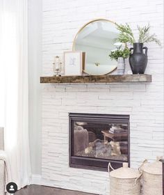 Brick Fireplace Decor, Diy Picnic Table, Bolts And Washers, Stain Colors, Diy On A Budget, Mantle, Backyard, Living Room, House