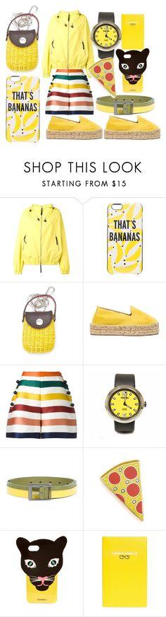 """yellow of fashion"" by denisee-denisee ❤ liked on Polyvore featuring Marni, Kate Spade, Serpui, Manebí, Carolina Herrera, Fendi, Issey Miyake, Georgia Perry, Iphoria and Smythson"
