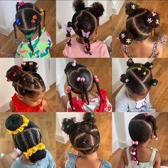 Black Baby Girl Hairstyles, Little Girls Natural Hairstyles, Kids Curly Hairstyles, Toddler Braided Hairstyles, African Braids Hairstyles, Little Girl Braids, Braids For Kids, Cabello Afro Natural, Kid Braid Styles