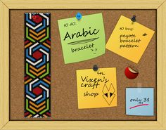 A personal favorite from my Etsy shop https://www.etsy.com/listing/218046908/arabic-peyote-bracelet-pattern