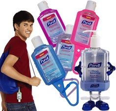 Purell Hand Sanitizers Fundraiser - Purell Hand Sanitizers with FREE reusable Backpack with each kit. Receive a FREE PURELL® PAL Desktop Dispenser with every 10 cases purchased of Purell® Seems too good to be true Nonprofit Fundraising, Fundraising Ideas, Church Fundraisers, School Carnival, Student Travel, Best Baby Shower Gifts, Relay For Life, Student Council, Hand Sanitizer