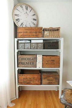 Wood Crates for creative shelving