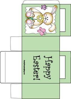 Easter Bunny Bag 2, Easter, Favor Box - Free Printable Ideas from Family Shoppingbag.com