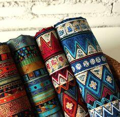 Bohemian style Stripe Cotton Fabric cotton Bag fabric cloth fabric Purse fashion Fabric curtain fabric- Yard USD) by Bohemian Fabric, Bohemian Style, Tribal Fabric, Boho Chic, Cotton Bag, Cotton Linen, Linen Fabric, Cotton Fabric, Curtain Fabric