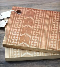 Tribal Wooden Engraved Cutting Board