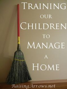 FREE Training Our Children to Manage a Home Checklist from Raising Arrows