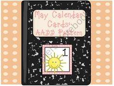 Calendar Cards-May product from Sliding-into-First on TeachersNotebook.com