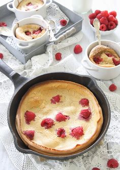 Gluten free raspberry lemon dutch baby