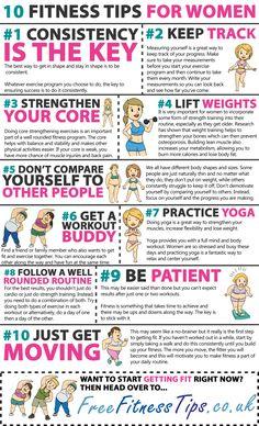10 Fitness Tips For Women  http://www.pinterest.com/freefitnesstips/