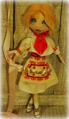 doll in traditional costume - Zliechov bábika v kroji -Zliechov,Slovensko Ronald Mcdonald, Doll Clothes, Disney Characters, Fictional Characters, Costumes, Traditional, Dolls, Disney Princess, Handmade
