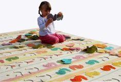 Alfombras de puzzle, las venden online, pero con fieltro grueso tú puedes hacerlas!