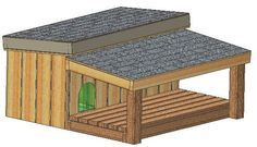 Insulated dog house plans, 15 total, multiple dog kennel plans for dogs Large Dog House Plans, Small Dog House, Build A Dog House, Large Dog Breeds, Large Dogs, Small Dogs, Dog House With Porch, Animal Projects, Medium Dogs