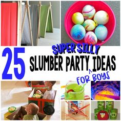 25 Super Silly Slumber Party Ideas For Boys – Play Ideas Boy Sleepover, Sleepover Activities, Slumber Party Games, Dinosaur Activities, Party Activities, Slumber Parties, Activities For Kids, Montessori Activities, Birthday Parties