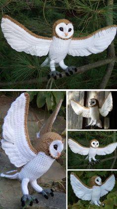 Mesmerizing Crochet an Amigurumi Rabbit Ideas. Lovely Crochet an Amigurumi Rabbit Ideas. Owl Crochet Patterns, Crochet Diy, Crochet Birds, Owl Patterns, Crochet Animals, Amigurumi Patterns, Crochet Crafts, Crochet Projects, Knitting Patterns